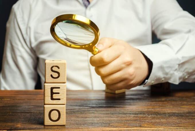 SEO And Magnifying Glass
